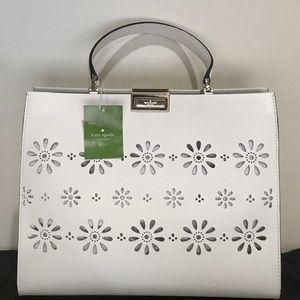 BRAND NEW Kate Spade Bright White Leather Handbag